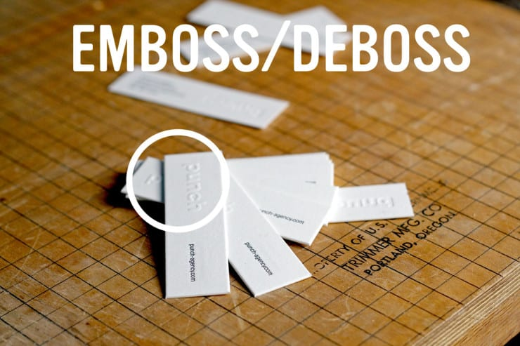 Emboss vs deboss vs blind letterpress the mandate press for Where can i get business cards printed same day