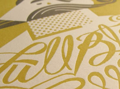letterpress printed AIGA SLC full bleed posters