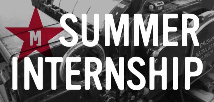 summer internship advertisement