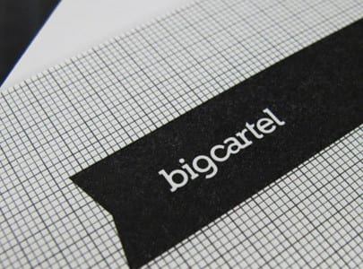 letterpress printed business card for big cartel