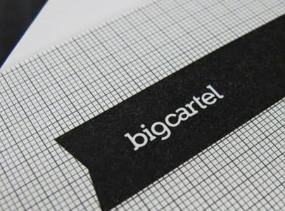 letterpress printed business card for big cartel