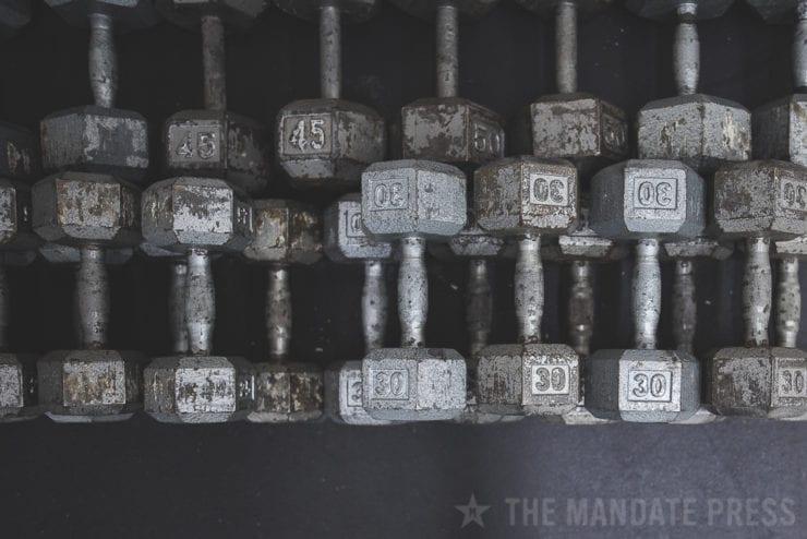 image of weights at The Division Gym, Murray Utah