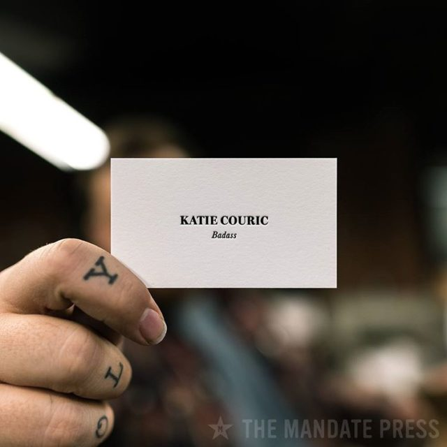 Hey katiecouric do you have room in your wallet forhellip