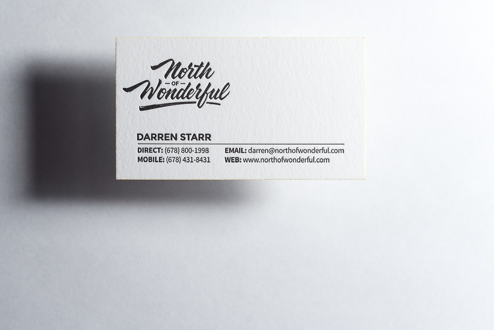 The best price in town for letterpress actually yes the mandate single color letterpress business card colourmoves Gallery