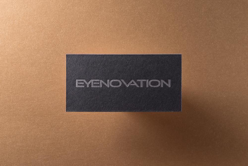 letterpress business card on black paper