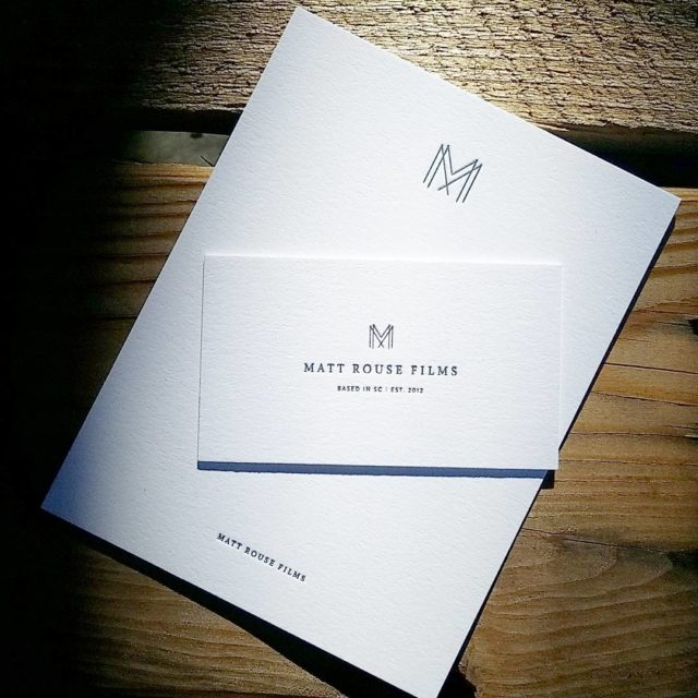 Heres a classy little business and notecard set for mattrousefilmshellip
